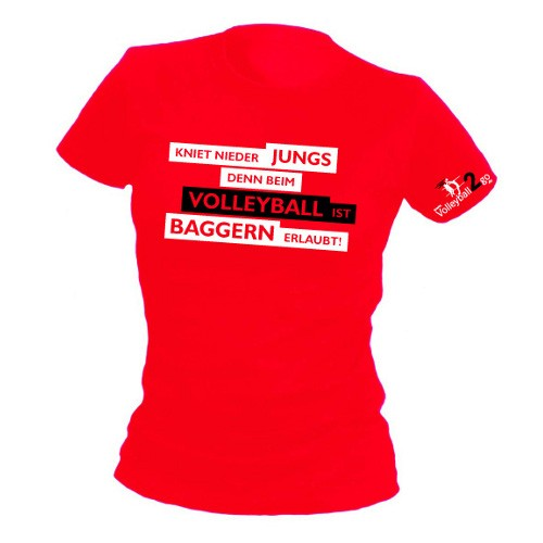 "VOLLEYBALL2GO Fun-Shirt ""Baggern"" Damen"