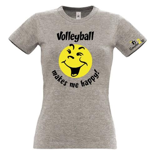 "VOLLEYBALL2GO Fun-Shirt ""Happy"" Damen"