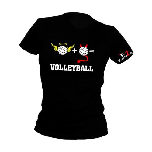 """VOLLEYBALL2GO Fun-Shirt """"Engel & Teufel"""" Damen"""